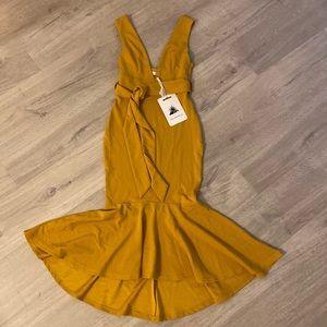 Hello Molly Mustard Midi Dress